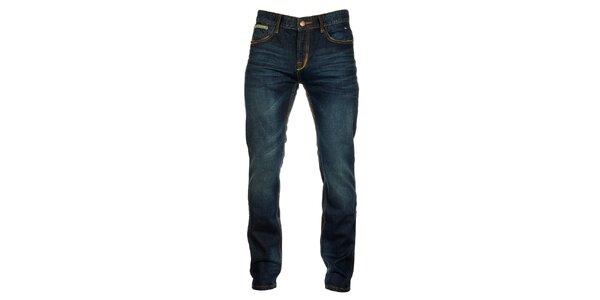 Pánské tmavě modré džíny s výraznými kapsami Exe