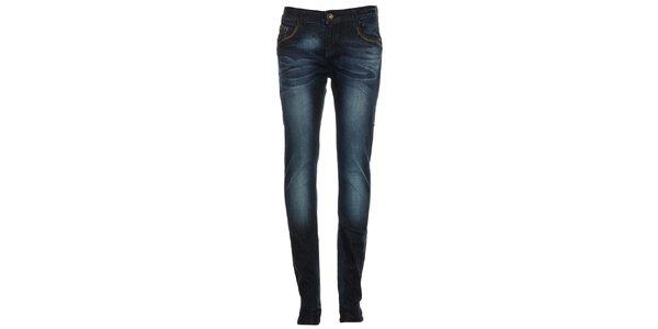 Dámské modré džíny s šisováním Exe