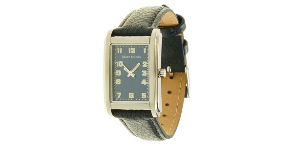 Pánské analogové hodinky s černým páskem Marc O´Polo
