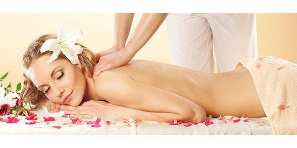 Relaxační olejová masáž celého těla dle výběru