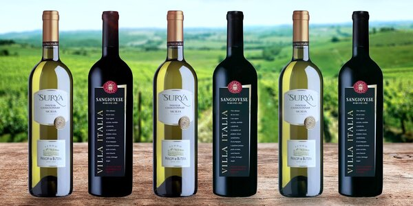 6 lahví skvělého vína ze slunné Itálie