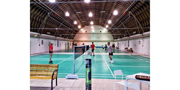 Ranní či dopolední hodina na badmintonovém kurtu