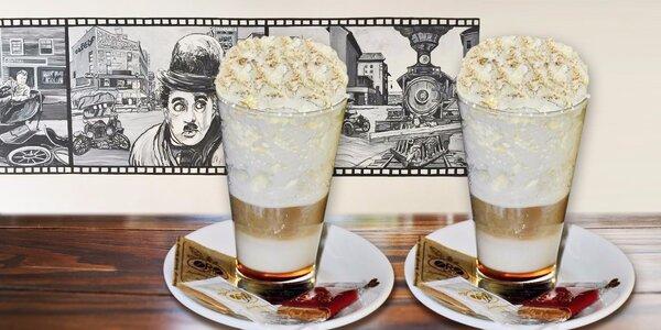 Voňavé caffè latte s dýňovým sirupem pro dva
