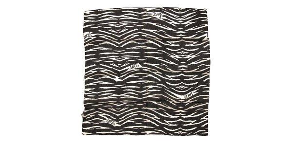 Luxusní hedvábný zebrovaný šátek DKNY