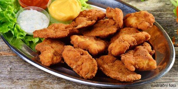 1,5kilová mísa kuřecích a vepřových řízečků