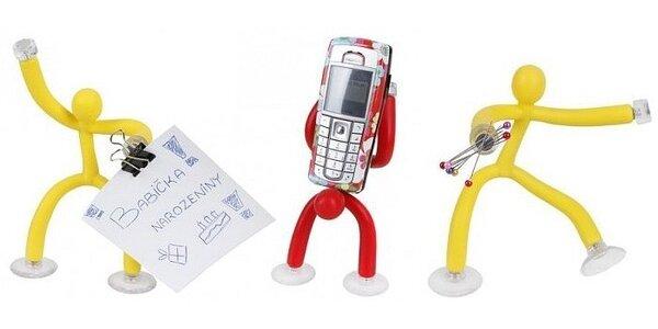 Kreativní hračka a pomocník v jednom. Silikonový panák, 4 barvy. Vhodný dárek…