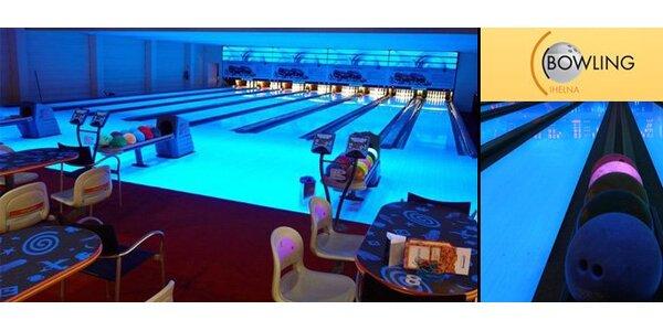 159 Kč za hodinu bowlingu v zábavním centru Cihelna v Králově Poli.