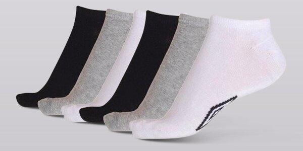9 párů kotníčkových ponožek Umbro