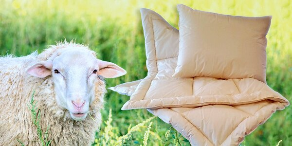 České ložní soupravy z ovčí vlny merino