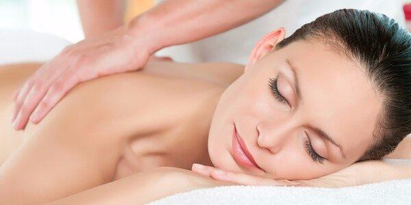 Příjemná relaxační masáž zad a šíje
