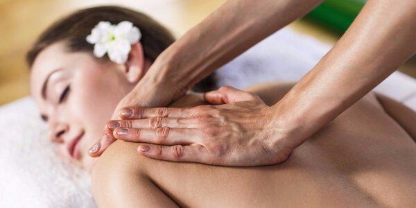 60minutová relaxační masáž zad a šíje