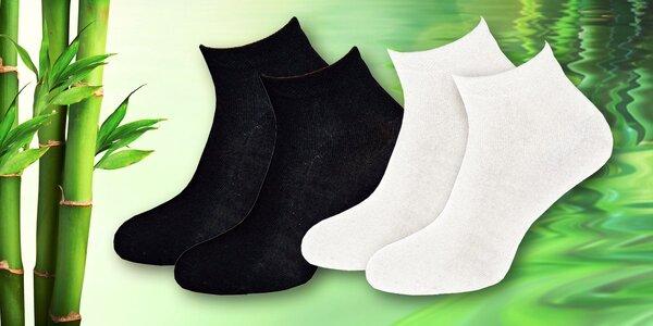 16 párů vyšších kotníkových ponožek s bambusem