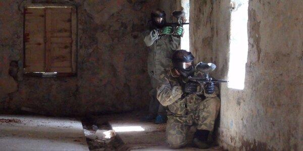 Neomezená paintballová přestřelka v Nekmíři u Plzně