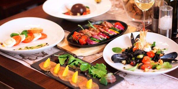 Středomořské degustační menu o 5 chodech pro dva