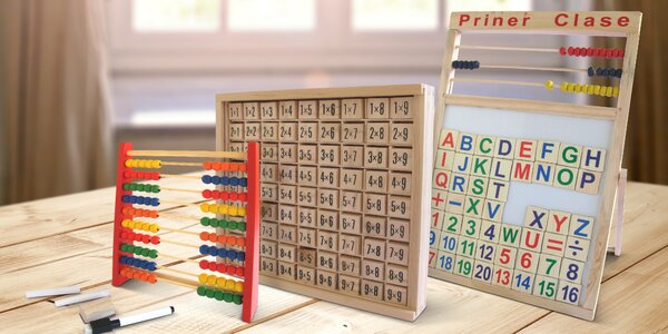 Dřevěné pomůcky nejen pro začínající školáky