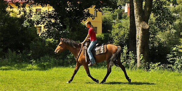 Romantika na ranči s koňmi v Jeseníkách