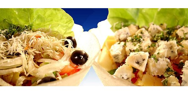 109 Kč za DVA vynikající obědové saláty!
