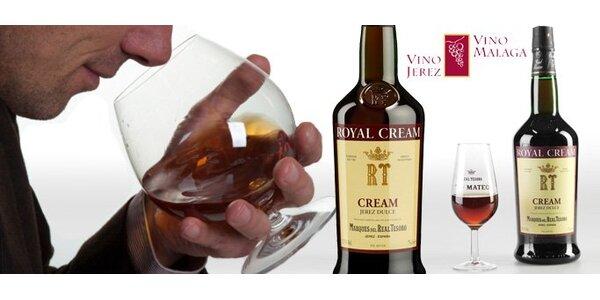 319 Kč za 17leté Sherry Royal Cream ze slunné Andalusie