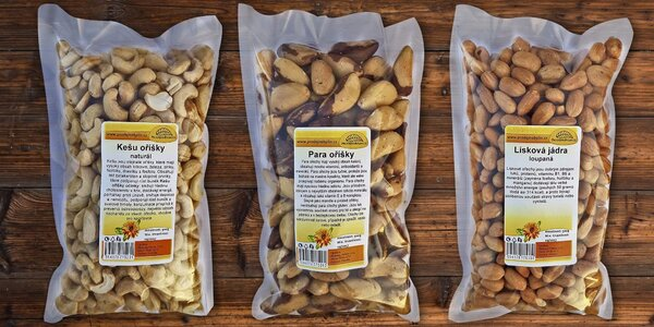 Půlkilový balíček ořechů plný zdraví a chuti