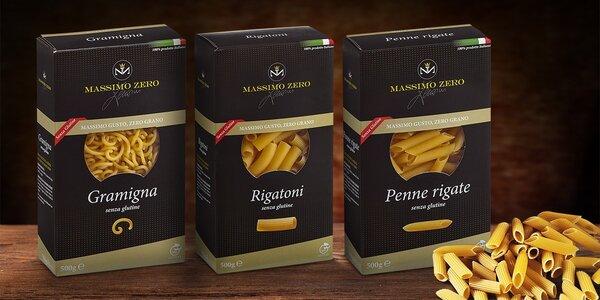 Bezlepkové těstoviny Massimo Zero všech tvarů, jaké si jen umíte představit