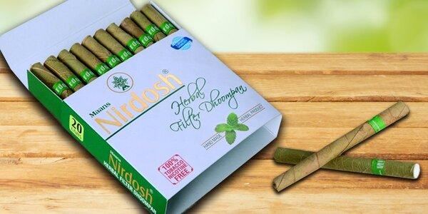 Bylinné doutníčky a bidiska Nirdosh bez obsahu tabáku