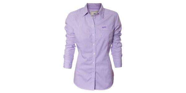 Dámská košile Timeout s fialovým proužkem