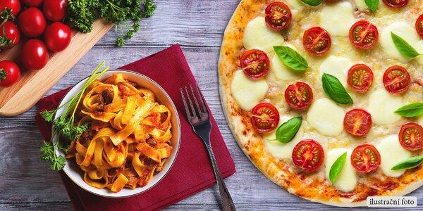 Křupavá pizza nebo těstoviny pro dva