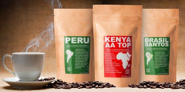 Sety čerstvě pražených káv z celého světa