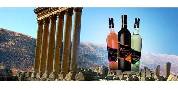 249 Kč za 3 lahve vína z Libanonu