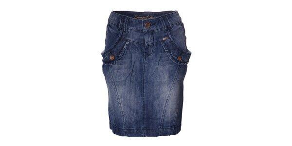 Dámská džínová sukně Timeout s velkými kapsami