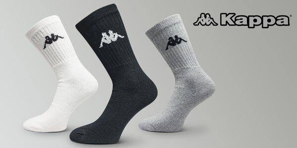 3 páry ponožek Kappa pro každodenní pohodlí