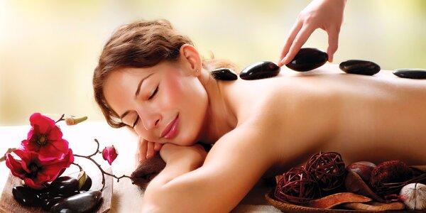 45minutová masáž zad a šíje lávovými kameny