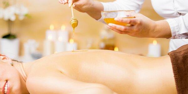 Detoxikační medová masáž s šálkem čaje