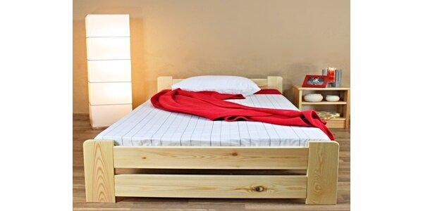 Masivní postel Verona včetně roštu