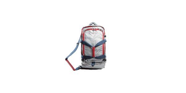 Velká stříbrná cestovní taška a batoh v jednom Tommy Hilfiger