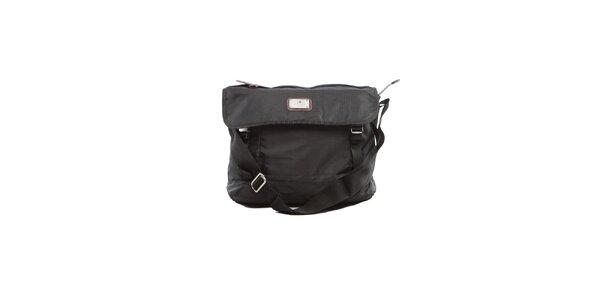 Černá nylonová taška přes rameno Tommy Hilfiger