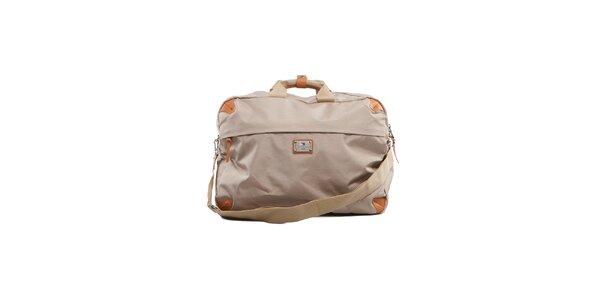 Velká béžová cestovní taška Tommy Hilfiger