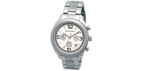 Pánské stříbrné náramkové hodinky Marc O´Polo