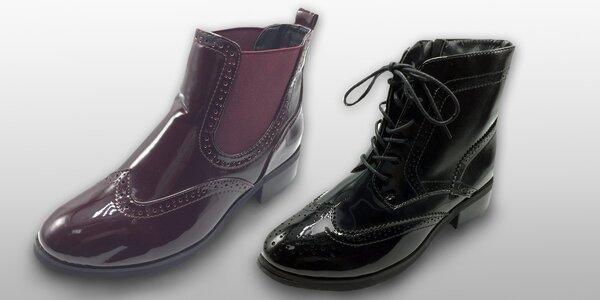 Elegantní kotníčkové boty pro dámy