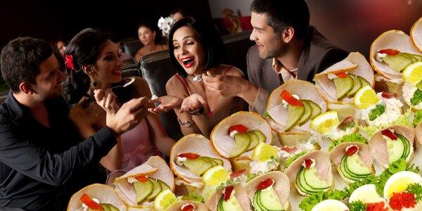 42 silvestrovských kanapek pro super oslavu