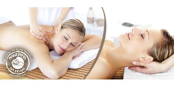 299 Kč za 90minutovou profesionální masáž ve studiu Masáže Na Dlani.