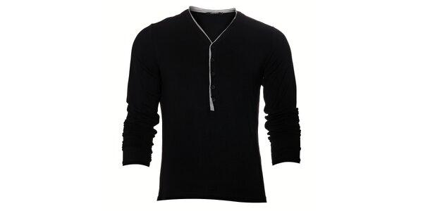Pánské černé tričko Free Wave s dlouhým rukávem