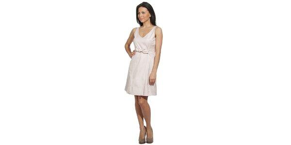 Dámské světle béžové šaty s mašlí v pase Red Valentino
