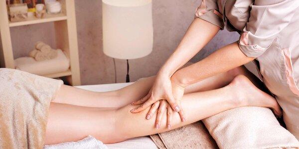 60minutová manuální lymfodrenáž nohou