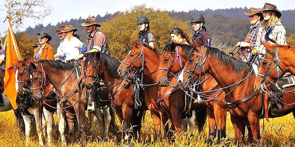 Hodinová westernová projížďka na koni na ranči M