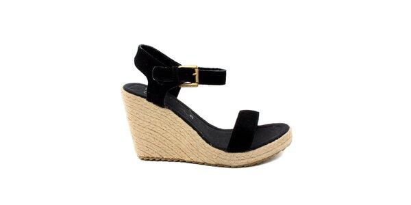 Dámské černé semišové sandálky na platformě Bagatt