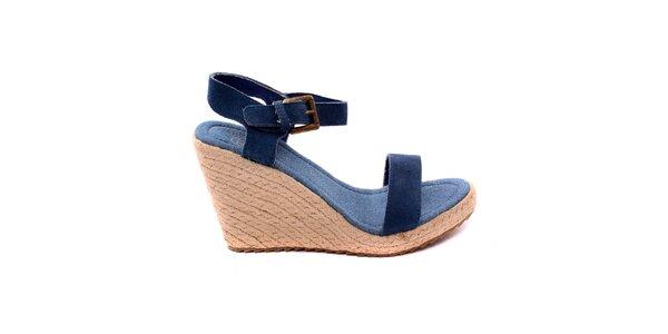 Dámské modré denimové sandálky na platformě Bagatt