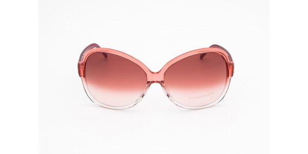 Dámské růžovo-bílé sluneční brýle Guess
