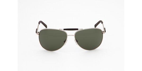 Dámské šedo-stříbrné sluneční brýle Guess