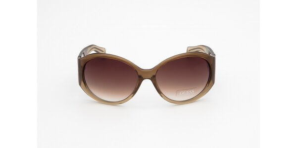 Dámské béžovo-hnědé sluneční brýle Guess